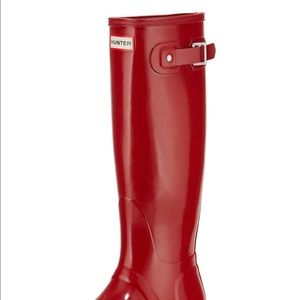 Red Glossy Hunter Boot